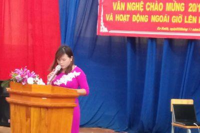 Giao lưu văn nghệ và hoạt động NGLL chào mừng ngày Nhà giáo Việt Nam 20-11 năm học 2017 – 2018