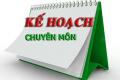 Kế Hoạch chuyên môn năm học 2018-2019
